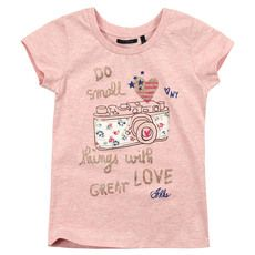 Ikks - Pink T-shirt with a print - 71005