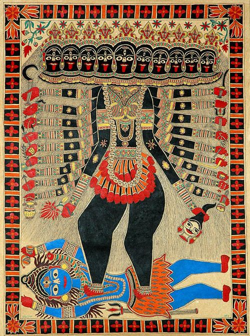 Mahakali (Sanskrit: Mahākālī, Devanagari: महाकाली), literally translated as Great Kali, is a Hindu Goddess, considered to be the consort of Shiva the God of consciousness, and as the basis of Reality and existence.