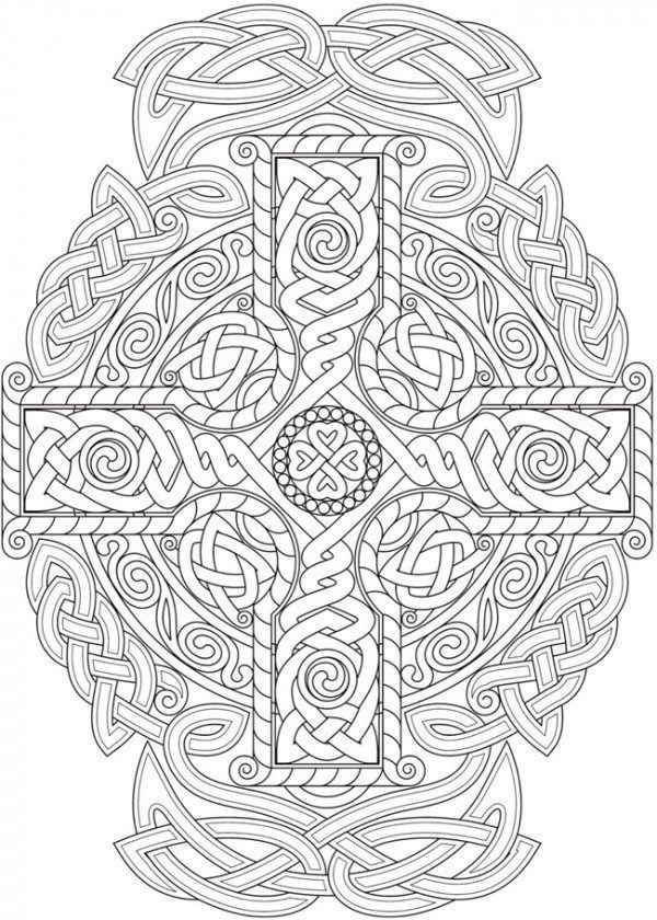 6 Celtic Knots Coloring Pages Celtic Coloring Mandala Coloring Pages Cross Coloring Page