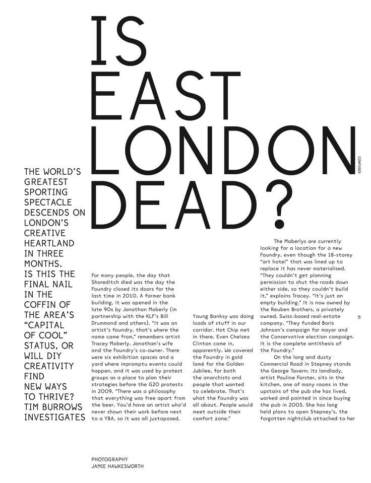 Is East London Dead?