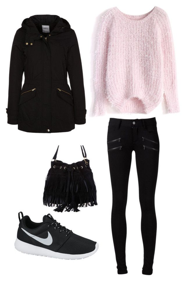 F #6 by dianatairum on Polyvore featuring Chicwish, ONLY, Paige Denim and NIKE