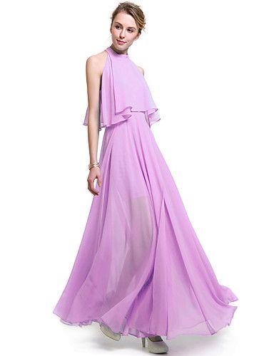 SUOQI Women's Ruffle/Off The Shoulder Plus Size Women Dresses Solid Color Bohemian Beach Dress Swing Open Fork Chiffon Dress 5662424 2017 – £39.59