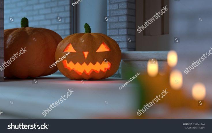 Halloween Home Decoration - (3D rendered) #3 - Night Version