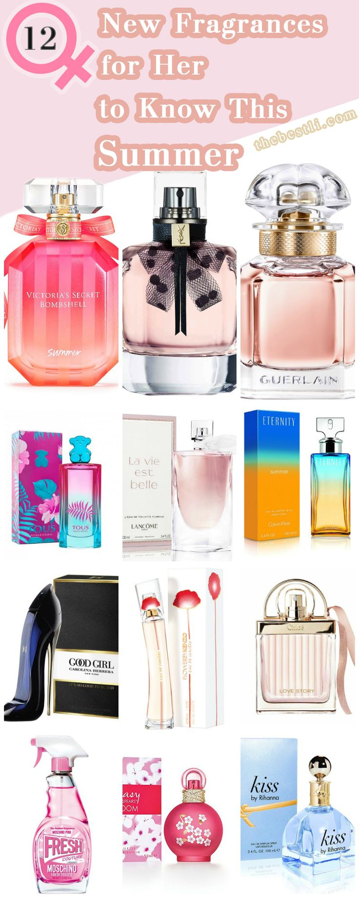 12 #Best New Summer #Perfumes for Women 2017 We've done the hard work for you and collected a fresh crop of #fragrances that will totally welcomed in the 2017 #summer season.