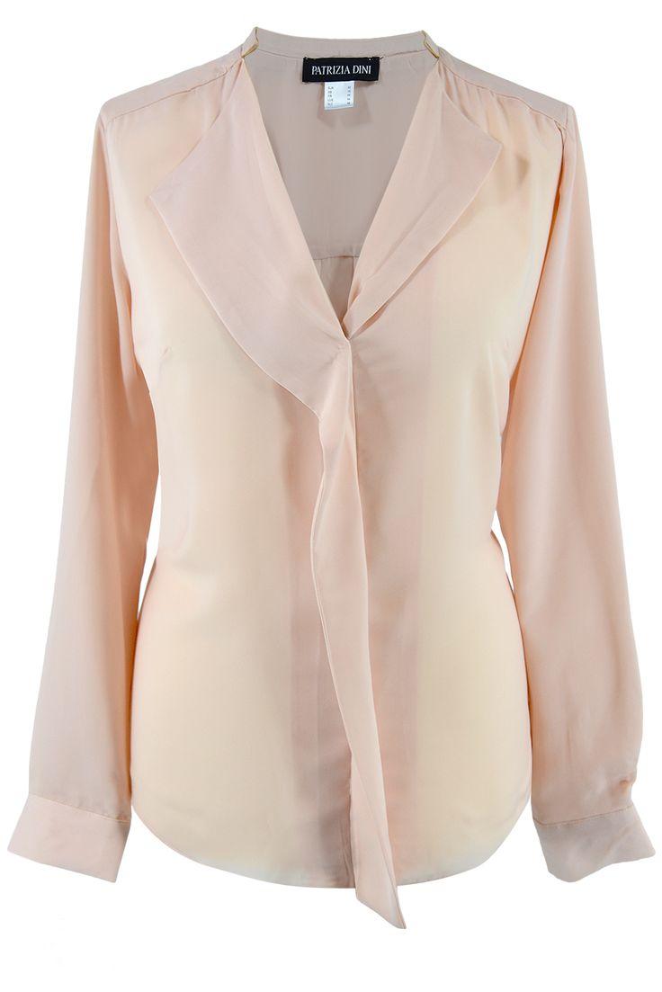 Patrizia Dini bluzka koszulowa morela. Elegant blouse #pastels #blouse