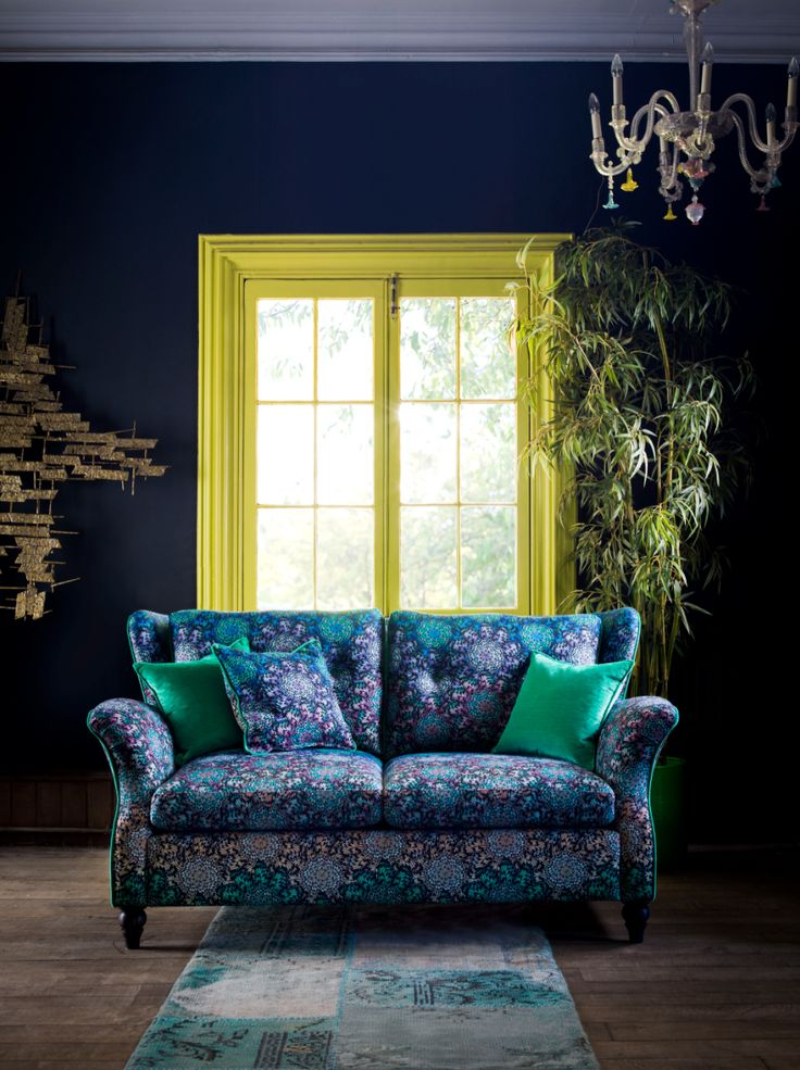 Introducing Matthew Williamson's first ever bespoke furniture collection. Created in collaboration with Nottingham-based sofa manufacturer Duresta, the designs comprise five upholstery ranges and unique occasional. The kemp compact sofa in butterfly wheel ombré.