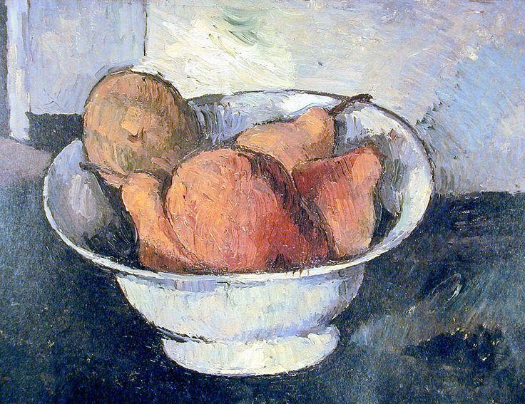 Поль Сезанн: Salad bowl with apples and pears