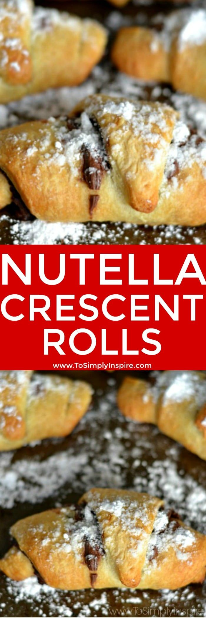 These simple and delicious Nutella Crescent Rolls are quick and easy to make. With only 3 ingredients, they are a yummy little treat for any occasion.