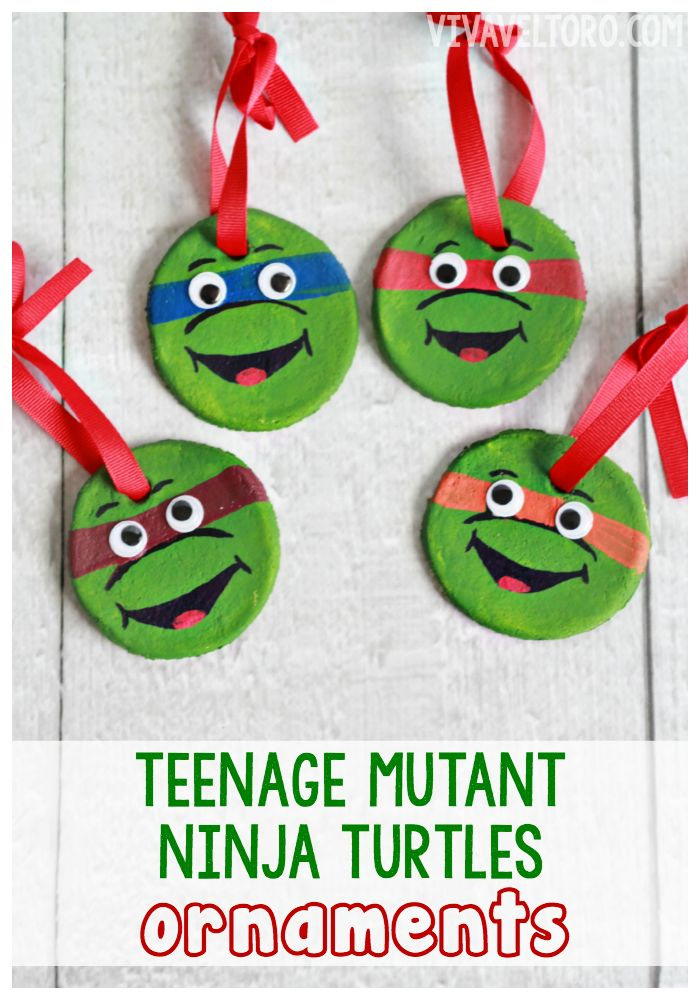 Teenage Mutant Ninja Turtle Ornaments - simple and fun for kids!