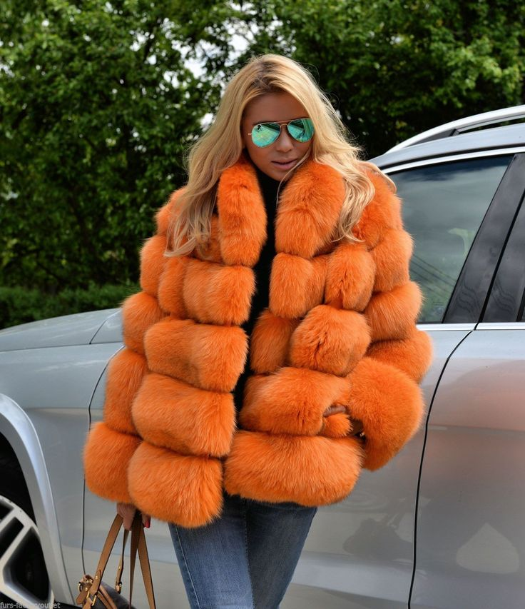 New 2015 Orange Royal Saga Fox Fur Jacket Class Chinchilla Sable Vest Coat Mink | eBay