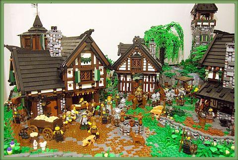 LEGO Castle Medieval Village Details by Derfel Cadarn http://thebrickblogger.com/2012/08/guide-to-building-a-lego-castl-village/