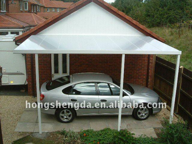Plastic Carport Canopies : Metal attached carport view solid plastic hsdmcl