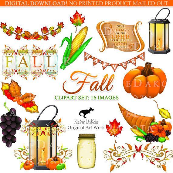 Fall Clip art Autumn Digital Images Printable Clip art