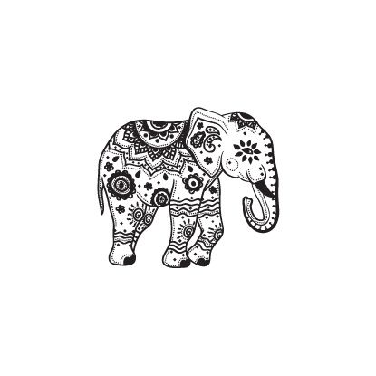 Image result for indian elephant tattoo                                                                                                                                                                                 More