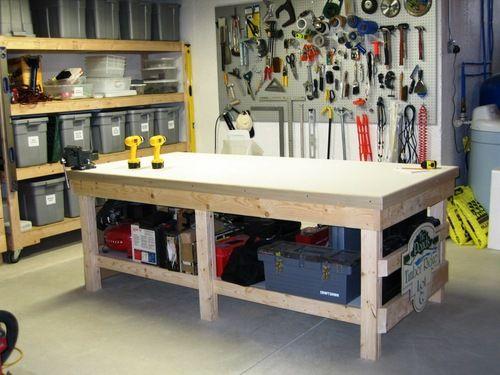 4x8 Work Bench   Work Bench in 2019   Garage storage ...