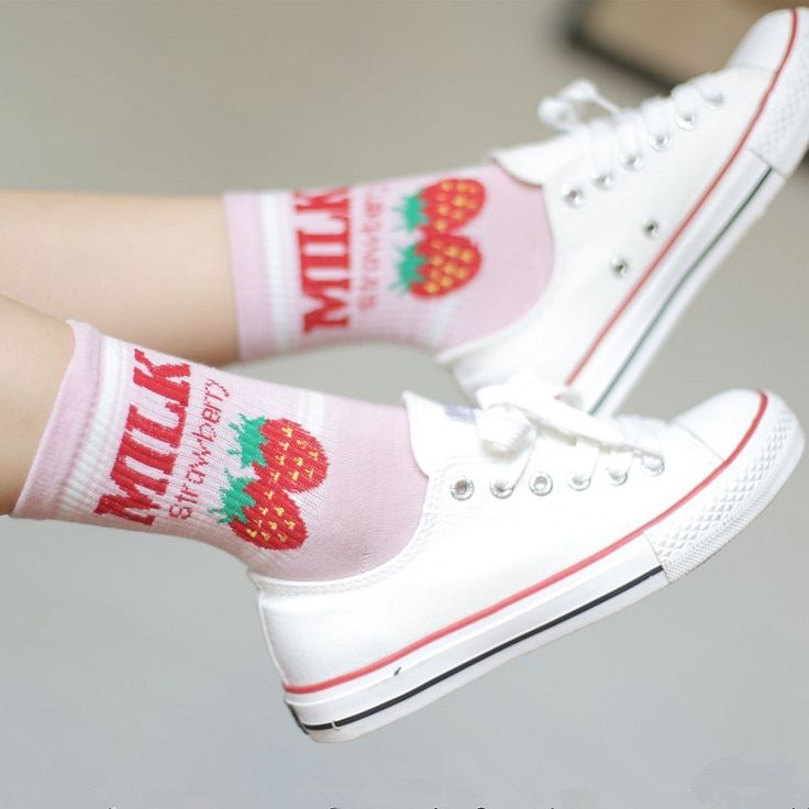 Japanese Cute Strawberry and Banana Milk Socks (Buy one & get one for FREE)