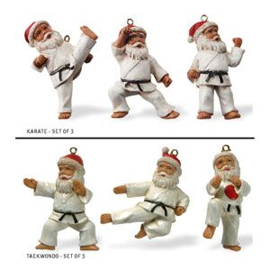 Karate Christmas Tree Ornaments