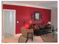 Red Accent Wall In Living Room