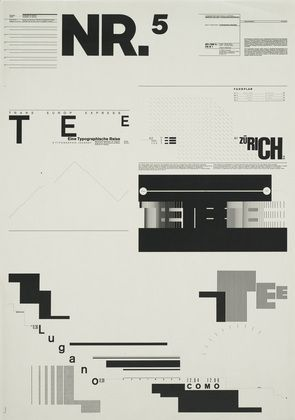 1971-74 Typographic Process, Nr 5. Typography as (Painting)  Wolfgang Weingart (Swiss, born 1941)
