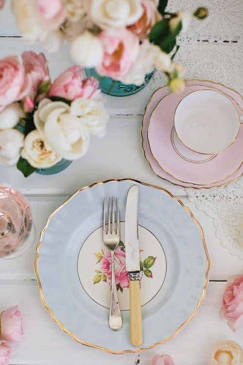 table setting #weddings #functions  pretty china, husband might be mad