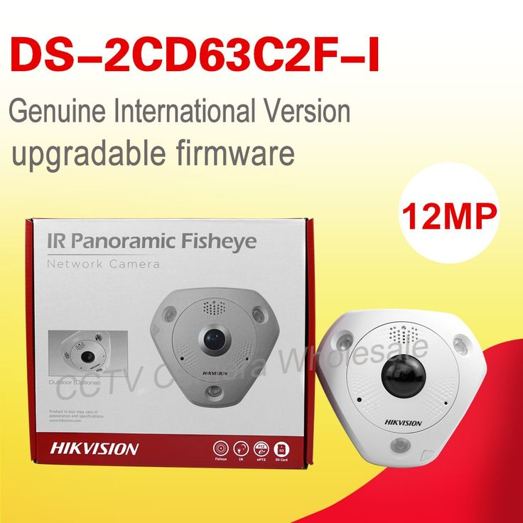 (453.00$)  Watch now - http://aia0l.worlditems.win/all/product.php?id=32655616198 - Free shipping English version DS-2CD63C2F-I  12MP Fisheye Network Camera 360 degree view angle ip camera Support Heat Map