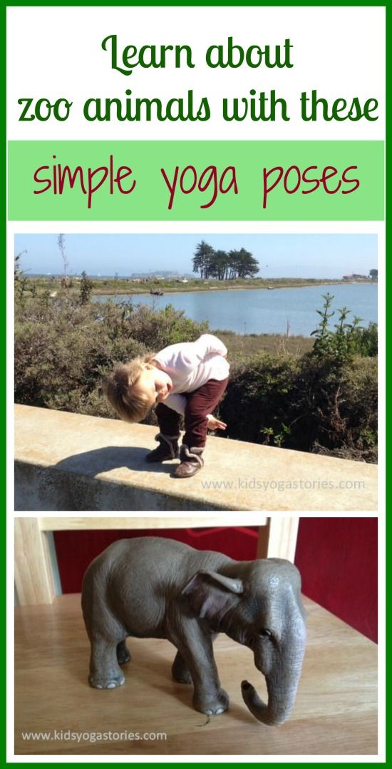 Learn about zoo animals through books and these simple yoga poses for kids >> Kids Yoga Stories  #yogaforkids #LetsMove