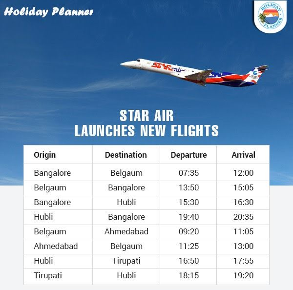 Star Air Launches New Flights Flights Booking By Holiday