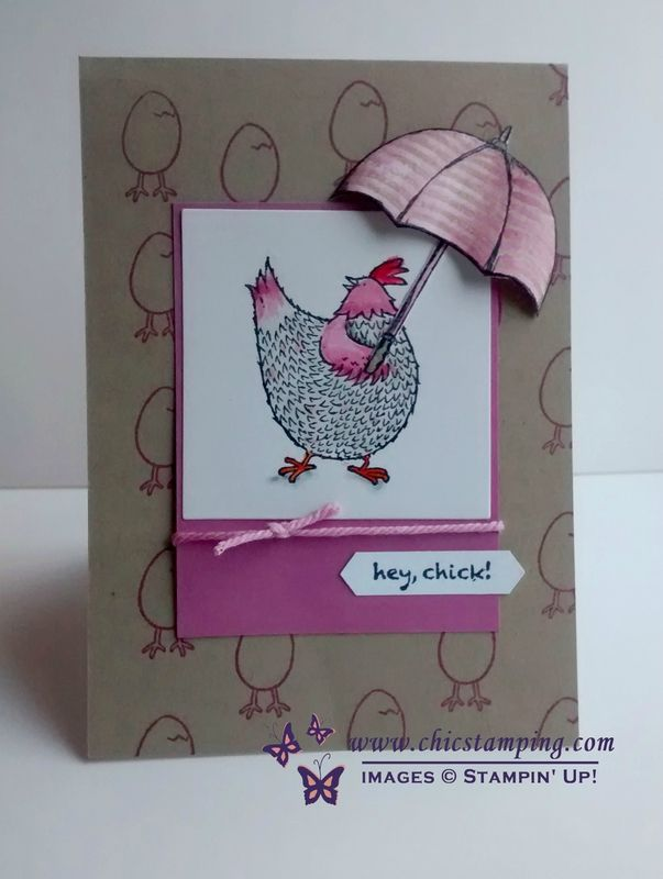 "Stampin""Up! Hey Chic free stamp set with Weather Together stamps and thinlits card by Chic Stamping"