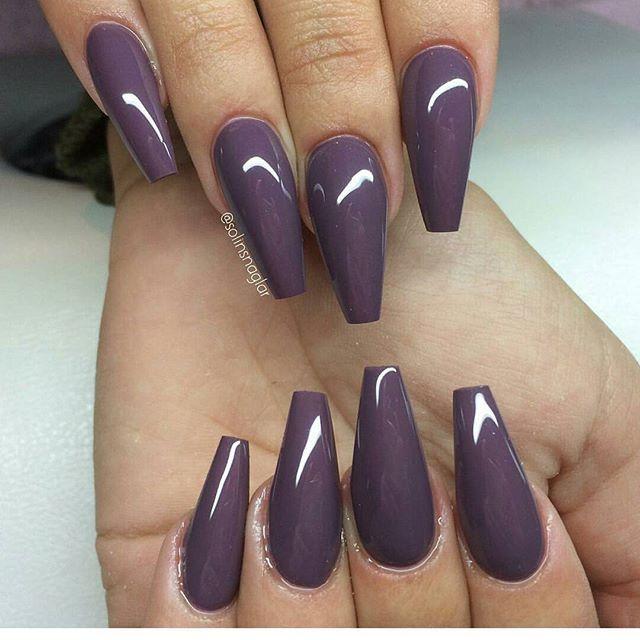 "#mulpix ""Smoky Plum"" Gel Polish on trendy Ballerina/Coffin/Squaletto shapes nails. Made by @solinsnaglar @solinsnaglar @solinsnaglar . . #lillynails #nails #nailart #naglar #gelnails #gelenaglar #gelpolish #gelelack #acrylicnails #akrylnaglar #instanails #nailstagram #nailtech #nailswag #nailz #nailaddict #nagelutbildning #nailartkurs #nagelskola #nagelsalong #nagelterapeut #ballerina #ballerinanails #coffin #squaletto #dopenails #nailwow #nailinspo"