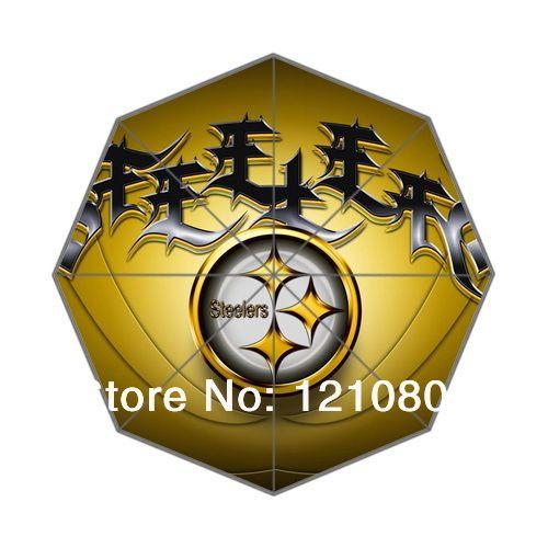 2014 Горячая Продажа! НФЛ Питтсбург Команда Логотип Печать Авто Складной Зонтик Бесплатная доставка!