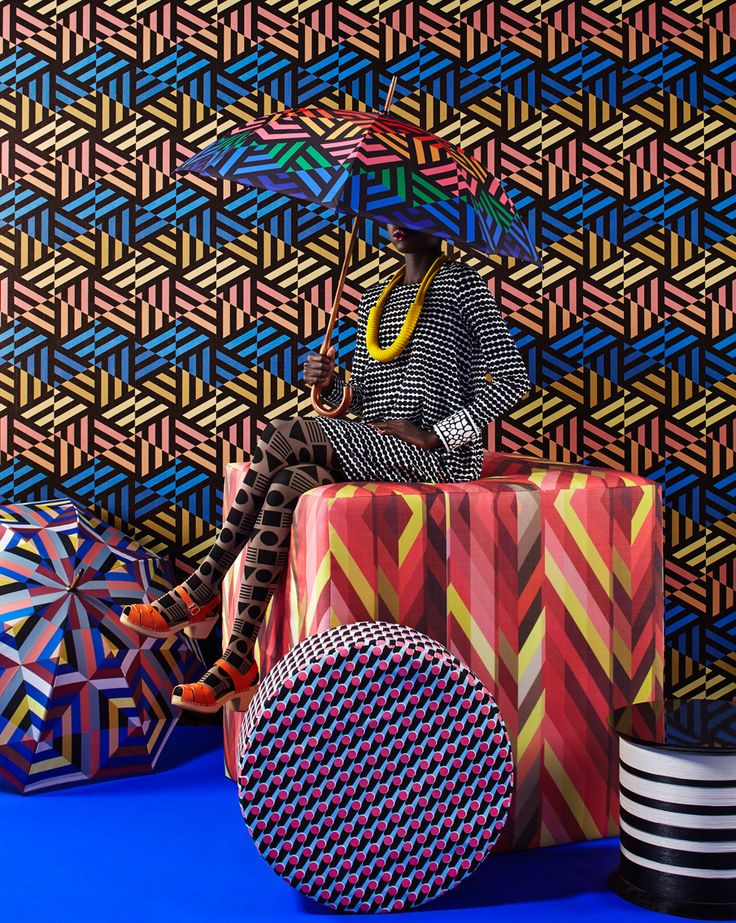 Pattern clash crazy by stylist Olivia Gregory and photographer Ania Wawrzkowicz for  Homes & Gardens magazine.