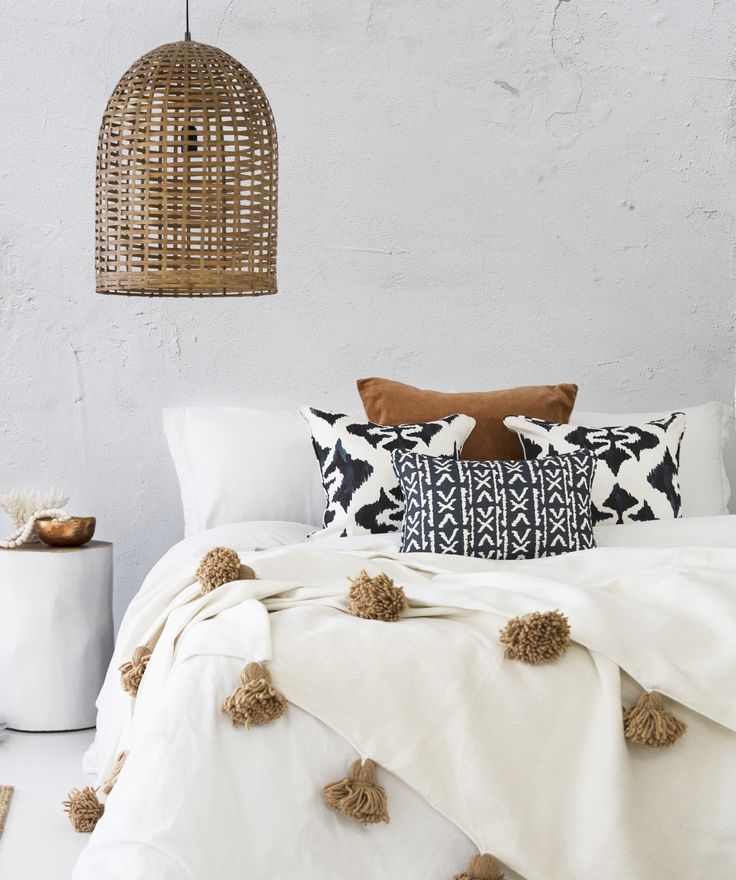 Our TRIBAL Collection cushions  -  Ink Blot Cushion  -  Runes Cushion  -   Photo and Styling by The Design Villa