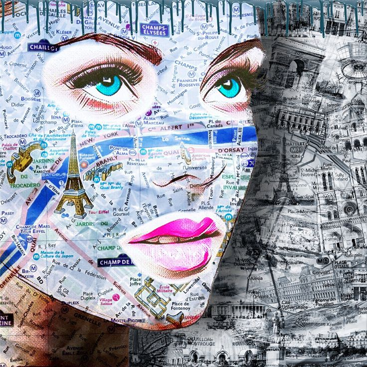 """""""Parisienne Bleue"""" Plexis from 80x80 to 120 x120 cm availbale on www.Chams-Art.com"""