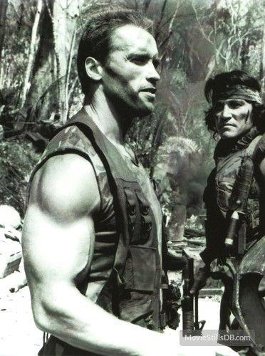 Predator - Publicity still of Arnold Schwarzenegger & Sonny Landham