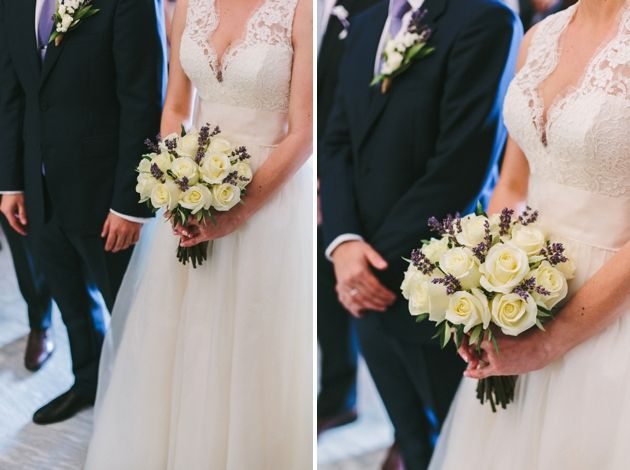 Eglegant wedding bouquet of roses, lavender and olive brunches - Wedding By Stella And Moscha, Photo by Thanos Asfis