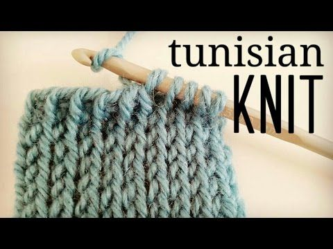 Tunesische Häkeln – Anleitung zum Stricken (TKS)   – Tunisian Crochet English Free Video Tutorials, Lessons & Patterns