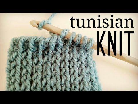 How to crochet Tunisian Knit Stitch (TKS) - Tunisian Crochet - YouTube