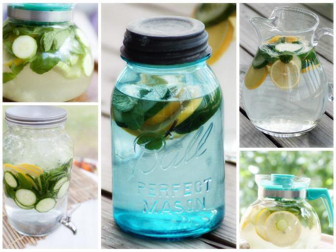 Limonada especial para vientre plano --------------------------------------------------  INGREDIENTES:  ---------- 2L de agua natutal, 1/2 pepino en rodajas, 2 limones en rodajas, 10 hojas de menta 5 y 1 cdita de ralladura de jengibre.