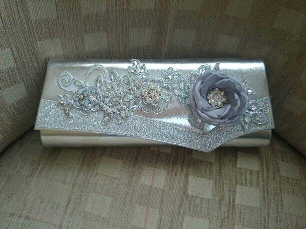 Silver grey clutch
