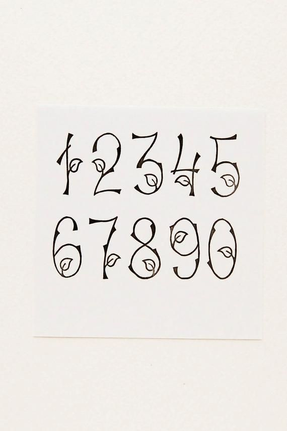 Woodland Numbers Stamps Birthday Gift Rubber Stamps Set