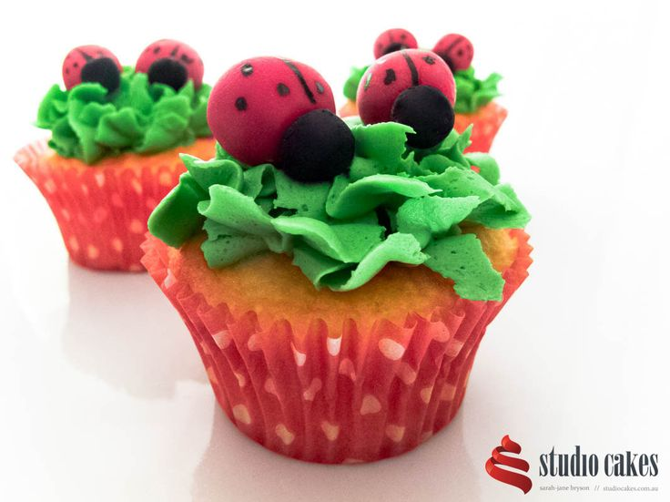 Perfect for a garden themed party. By Studio Cakes Australia baked in our designer cupcake wrappers, $3.50 for a 50 pack at http://bit.ly/1EQoNtN #cakes #brisbane #studiocakes #birthdaycake