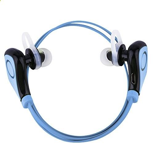 Sunvito Bluetooth Earbuds Wireless Stereo Headphones Headset Sports Running Gym Exercise Earphones Earpiece with Microphone  Rechargeable Li-ion Battery for Iphone 5s 5c 4s 4 Ipad 2 3 4 New Ipad Ipod Android Samsung Galaxy Smart Phones All Bluetooth Devices (Blue-black)) Sunvito Bluetooth Earbuds Wireless Stereo Headphones Headset Sports Running Gym Exercise Earphones Earpiece with Microphone  Rechargeable Li-ion Battery for Iphone 5s 5c 4s 4 Ipad 2 3 4 New Ipad Ipod Android Sams..