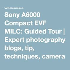 Sony A6000 Compact EVF MILC: Guided Tour | Expert photography blogs, tip, techniques, camera reviews - Adorama Learning Center