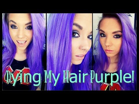 Dying My Hair PURPLE! | La Riche Directions in 'Violet'❤ - YouTube