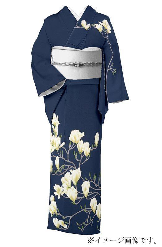 【宮野勇造】 本加賀友禅訪問着 伝統的工芸品 「木蓮」 ☆大和四季おりおり 花の優、凛と清雅…|京都きもの市場