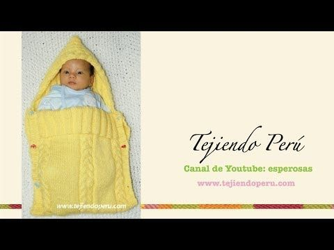 KNITTING TUTORIAL - BABY COCOON - YouTube
