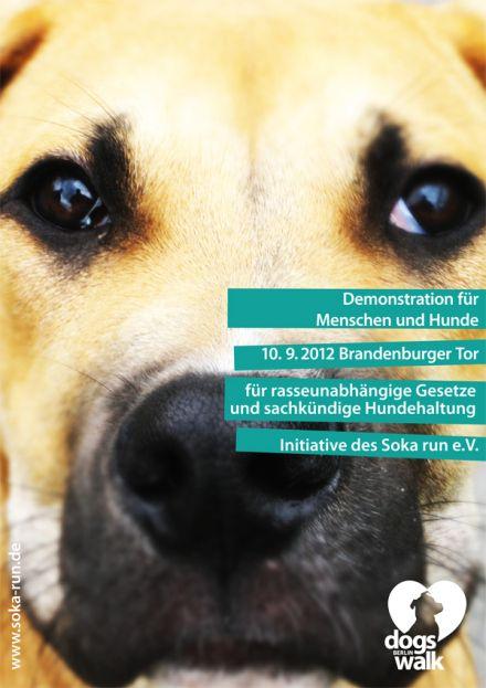 http://freiergestalten.wordpress.com/ (c) Julia Freier  Poster ad for fictive demonstration walk against the descrimination of certain dog races