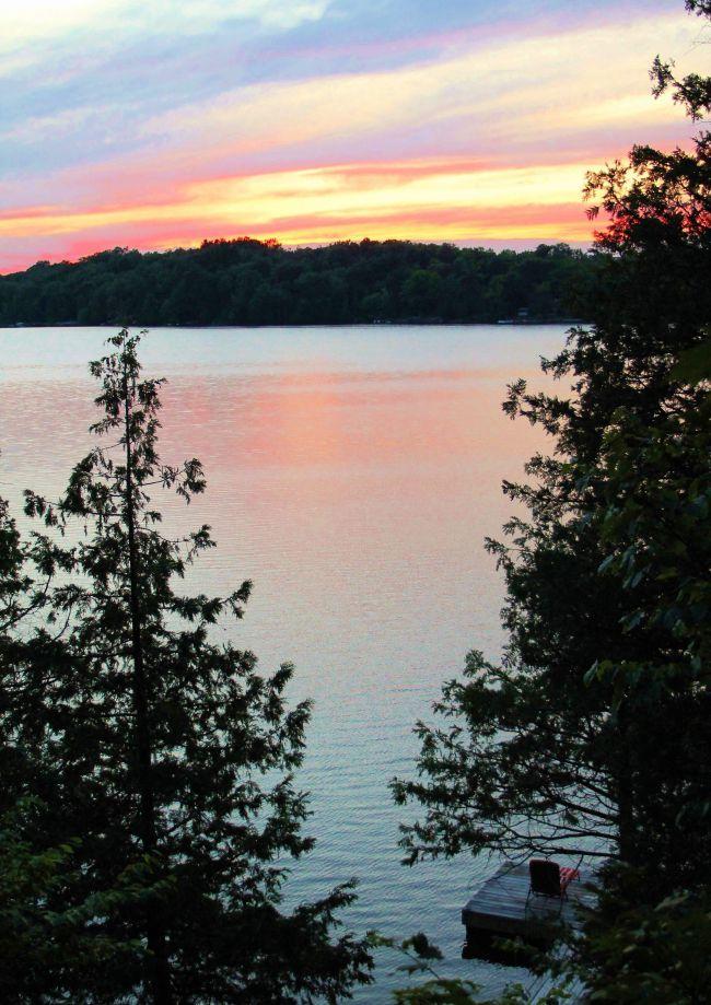 Finding peace lakeside
