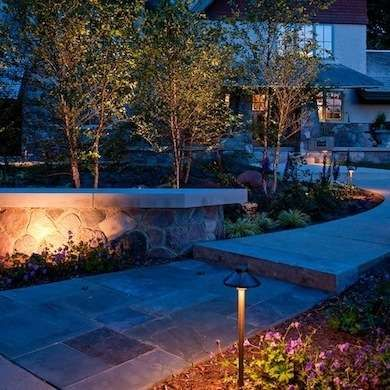 Install landscape lighting