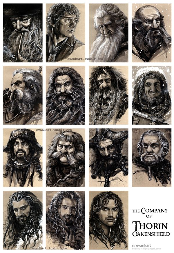 the Company of Thorin Oakenshield by evankart.deviantart.com on @deviantART